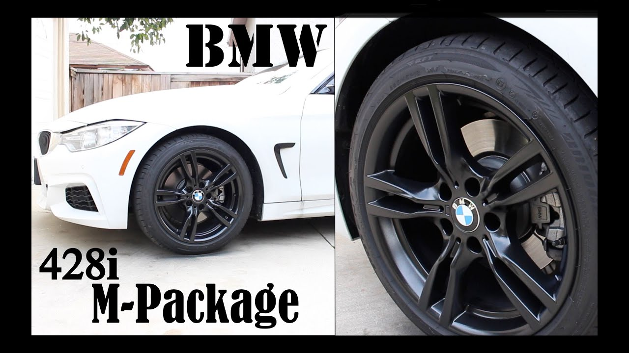 BMW 428i M Package Plasti Dip Rims With Gloss Diy