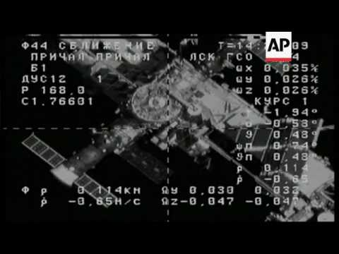 Russian Cargo Ship Docks at Int'l Space Station