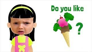 Do You Like Broccoli Ice Cream? | + More simple songs - Ulya