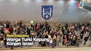 Ratusan Warga Turki Kepung Konjen Israel di Ankara