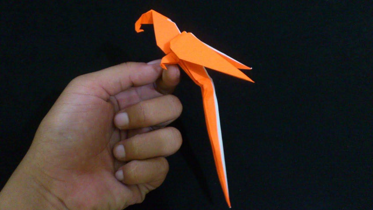 Cara Membuat Origami Burung Macaw Parrot
