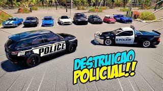 ZOIOOGAMER JOGO OQUE SABE!! - DESTRUIÇÃO POLICIAL - FORZA HORIZON 3