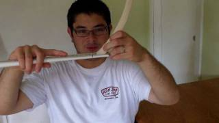 Attaching The Wood Siyahs - Flattened Pvc Pipe Horse Bow With Wood Siyahs Part 3 Of 4