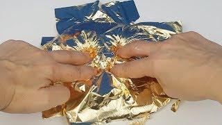 Gerçek Altın Folyo Slime vs 3 Renk Gold Slime Challenge !! Bidünya Oyuncak