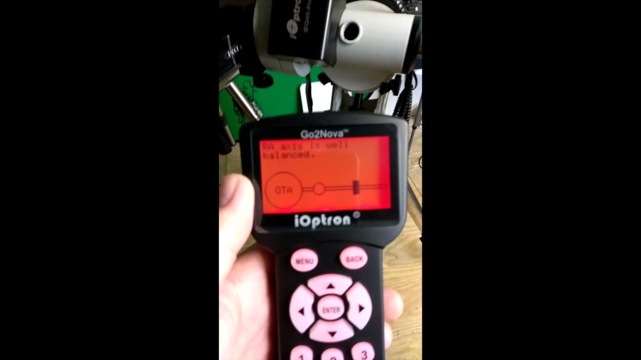 iEQ45 Pro - Balancing in RA via Hand Controller