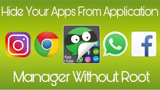 App Hider | Hide you apps from application manager without root in hindi/urdu