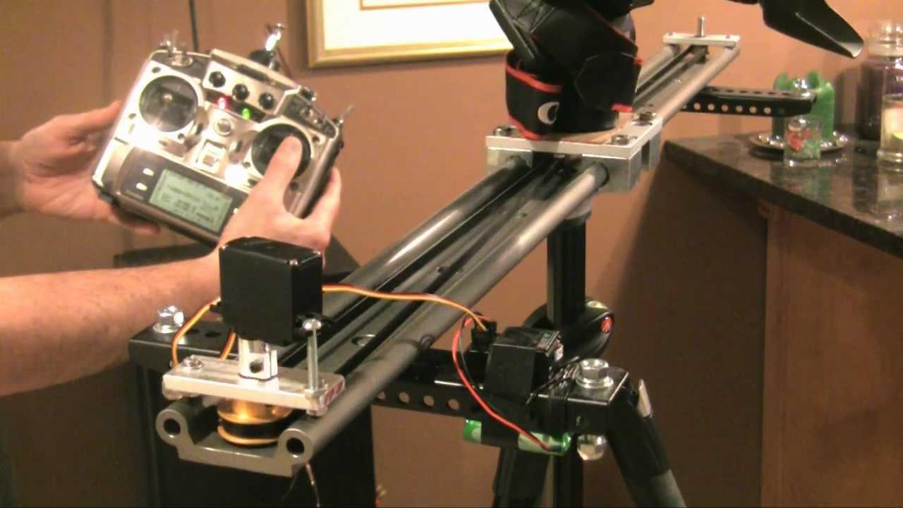 Radio Controlled DIY Glidetrack slider dolly - 7D DSLR ...