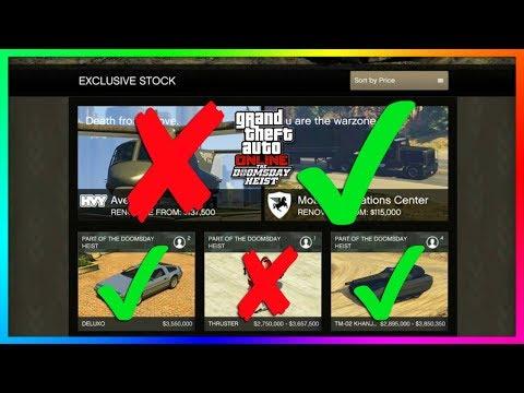 GTA Online The Doomsday Heist DLC BUYER BEWARE - Vehicles, NEW Cars & Items You Should NOT Buy!