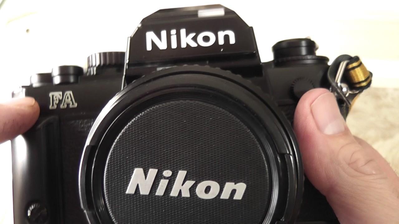 nikon fa 35mm film camera overview review youtube rh youtube com Battery Nikon FA Nikon FA Camera