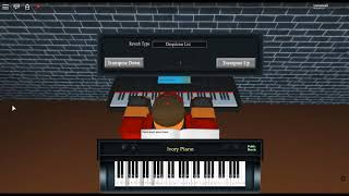 Maybe - First Love by: Yiruma on a ROBLOX piano.