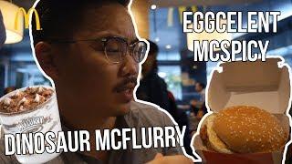McDonald Dinosaur McFlurry and Eggcelent McSpicy - Vlog#37