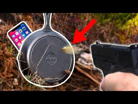 Can Cast Iron Pan Protect iPhone X from a Bullet??