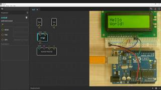Arduino and LCD16x2 programmed with XOD