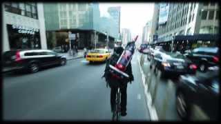 Delivering DASH by Bike Messenger in NYC