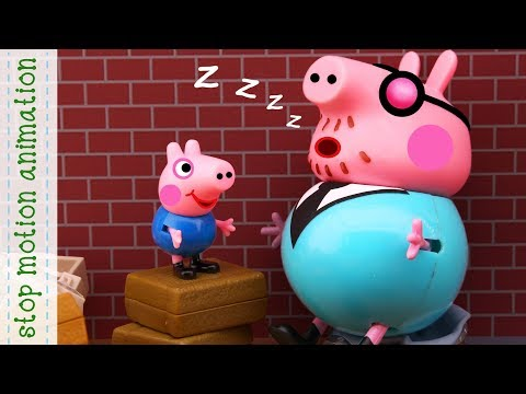 Daddy fell asleep. Peppa Pig toys new episodes 2018