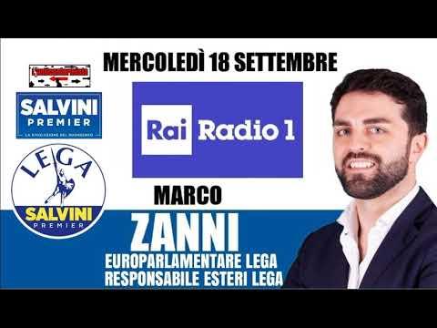 """🔴 Intervista Radiofonica All'On.Marco Zanni, Presidente Gruppo """"I.D."""" Del Parlamento UE, Su """"Radio1"""""""