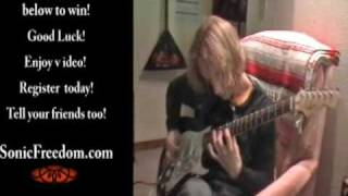 Tim Mainka Plays Sonic Freedom ® Mercy Me Bluetree Autograph Guitar Giveaway Rock Star Autographed