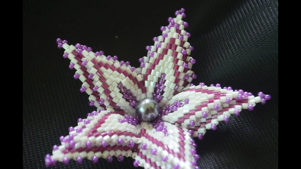 плетение бисером лилия схема
