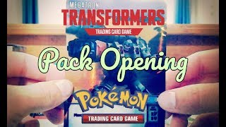 Pokemon and Transformers TCG Pack Opening