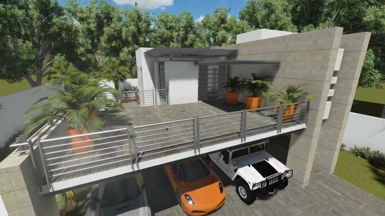 Casa moderna for Casa moderna en xkekos