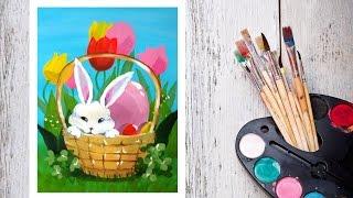 Видео урок Рисуем Гуашью Пасхального кролика! #Dari Art