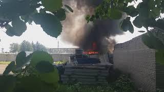 Пожар в Санкт Петербург 16.06.2018