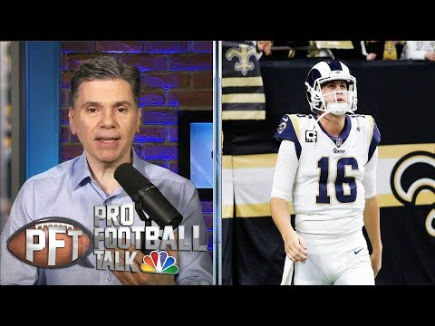 [Mike Florio and Chris Simms] The Los Angeles Rams may opt to not pay Jared Goff franchise money