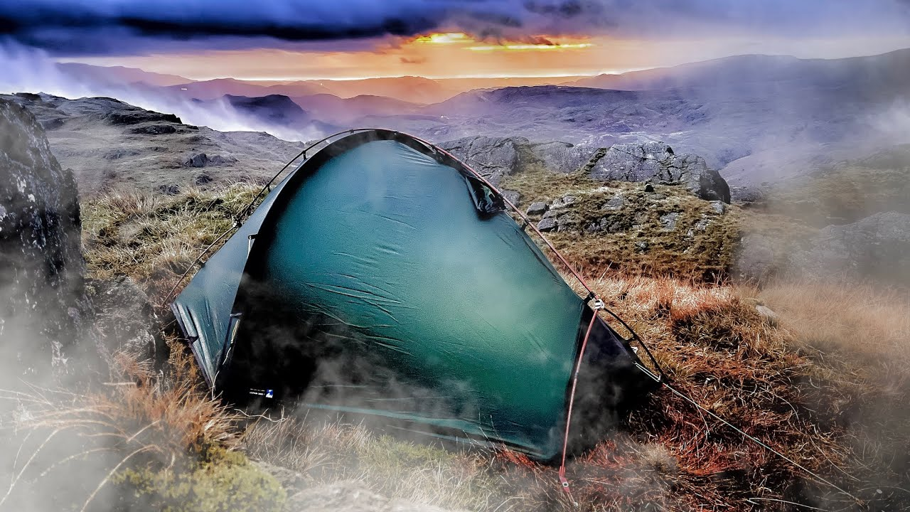 Cloudy & windy CAMPING in the Lake District