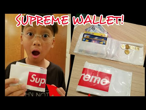 HOW TO MAKE A DIY SUPREME WALLET!!!(ACTUALLY WORKS!)