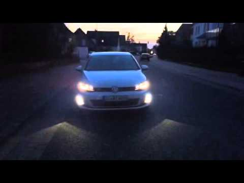 vw golf 7 gtd led xenon licht gti gte highline youtube. Black Bedroom Furniture Sets. Home Design Ideas