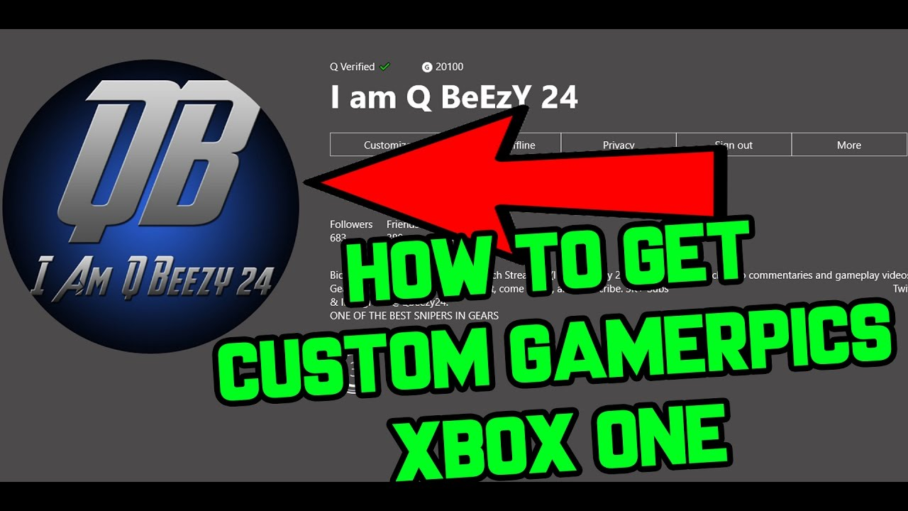 Xbox One Custom Gamer Pic How To Get Using Xbox Beta App Tutorial Youtube
