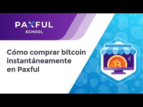 ¿Cómo comprar bitcoin instantáneamente en Paxful?
