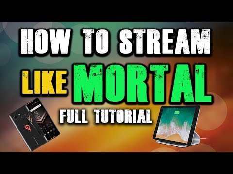 How To Stream Like Mortal From Phone/iPad And SLOBS? 💝😍