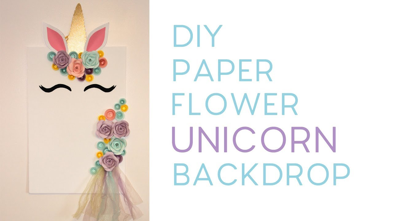 Diy Paper Flower Unicorn Backdrop Free Templates Youtube