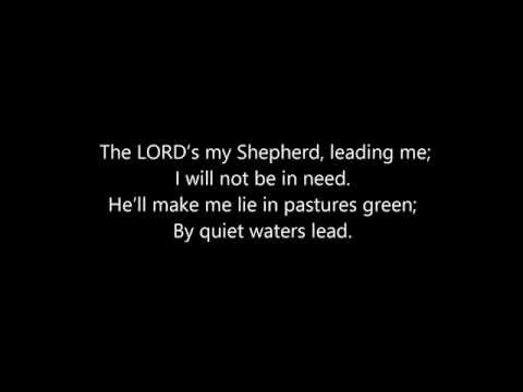 Psalm 23a (The Lord's My Shepherd) Lyrics Tim and Kaylee McCracken