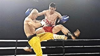 Shaolin Kung Fu Monk Versus Muay Thai Kick Boxing - Interesting