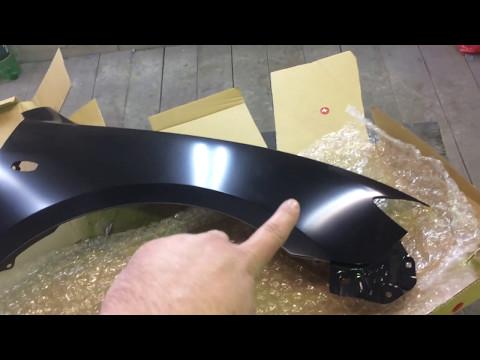 Покраска нового крыла автомобиля своими руками