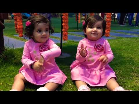 Bella and Vienna doing traditional ghoomar and bhangra. :)