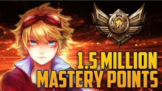BRONZE 4 Ezreal 1,500,000 MASTERY POINTS- Spectate 2nd Highest Mastery Points on Ezreal