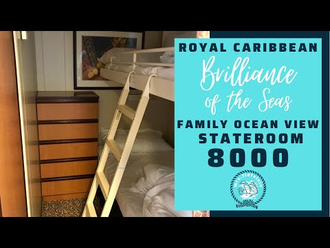 Brilliance Radiance Serenade Jewel of the Seas Ultra Spacious Ocean View Family Stateroom Cabin 8000