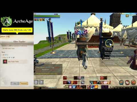 Archeage JUNE update Commerce Event Elite trader packs Riches from the depths