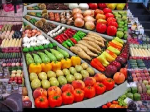 Vie pratique cuisine et sant un march pr sentation originale des stands de fruits et - Difference fruit et legume ...