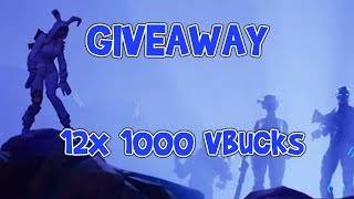FORTNITE 12 x WINNERS 1000 Vbucks GIVEAWAY Playr nine all winners Congratulations!!