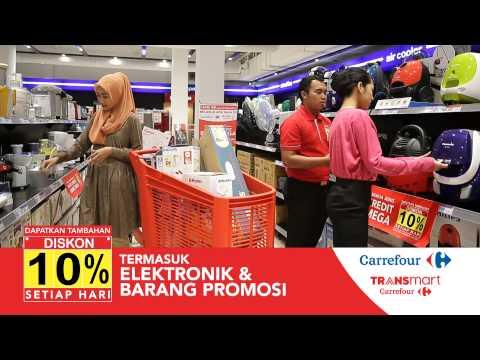 Belanja Apa Saja Diskon 10 Di Carrefour Transmart Youtube