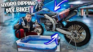 hydro-dipping-my-dirt-bike-2019yz450f-braap-vlogs