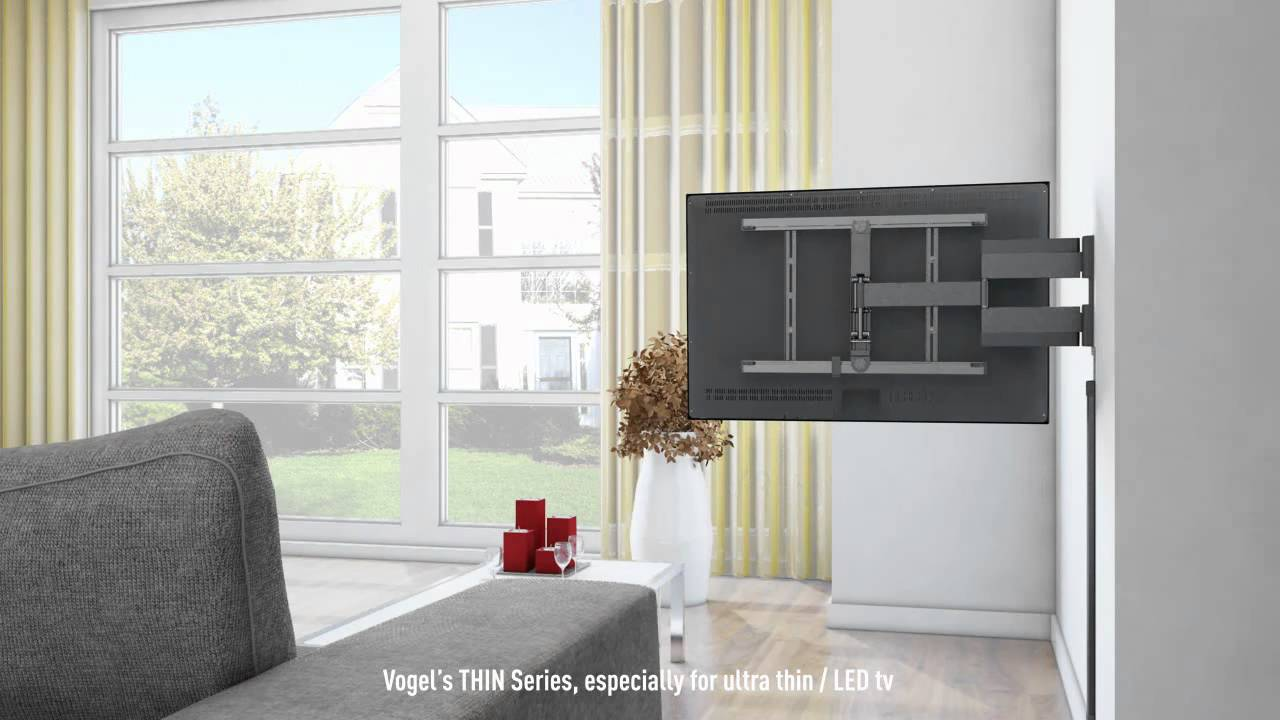 vogel s thin 345 support mural inclinable et orientable pour ecran slim et led