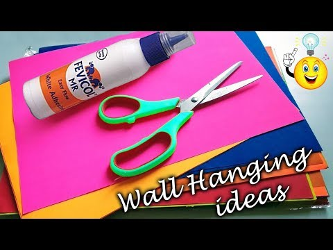How to make beautiful wall hanging with paper | DIY Paper flower wall hanging || Room decor ideas