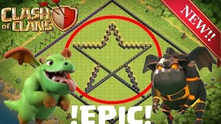 WORLD BEST EPIC STAR BASE!!! TH 10 LOOT PROTECT BASE Clash of Clans 2016 Speedbuild! no Replays!