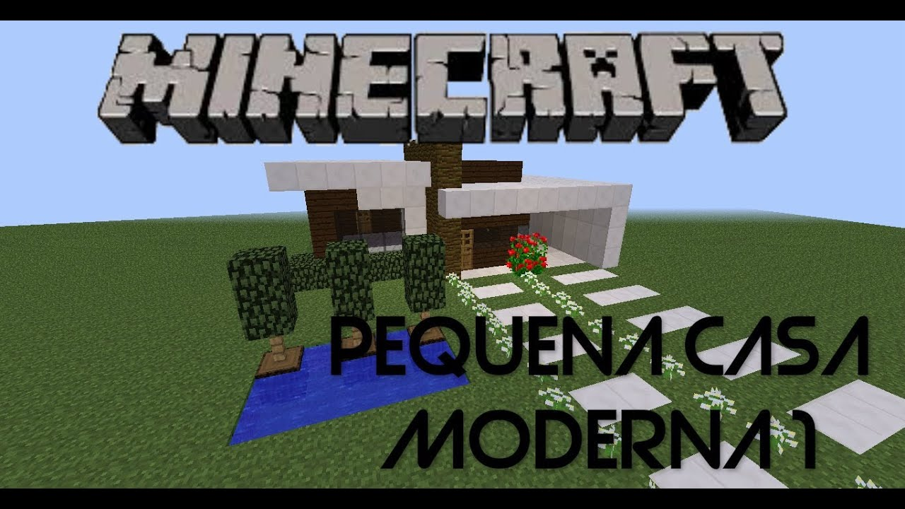 Minecraft pequena casa moderna 1 decora o interna e for Casa moderna 10x10 minecraft