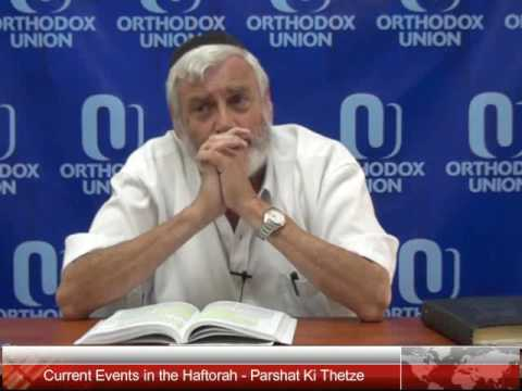 Current Events in the Haftorah - Parshat Ki Thetze - Sept 15, 2016
